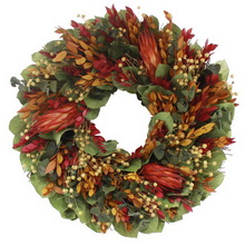 floral treasure wreath